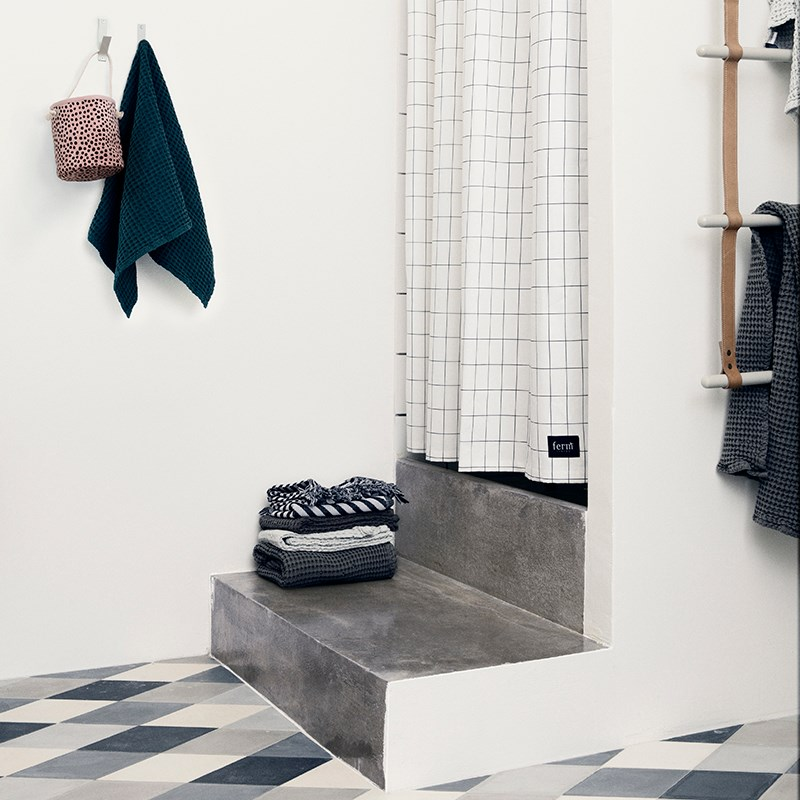 Grid shower curtain from Ferm Living