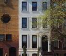 Historic facade of the NYC Townhouse is restored with care