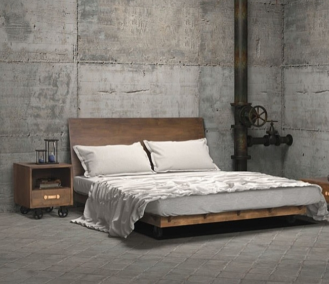 Industrial style bedroom with a dash of Steampunk! [Design: Zin Home]