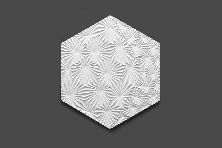 Innovative design of the latest KAZA tiles adds geometric and textural style to your home