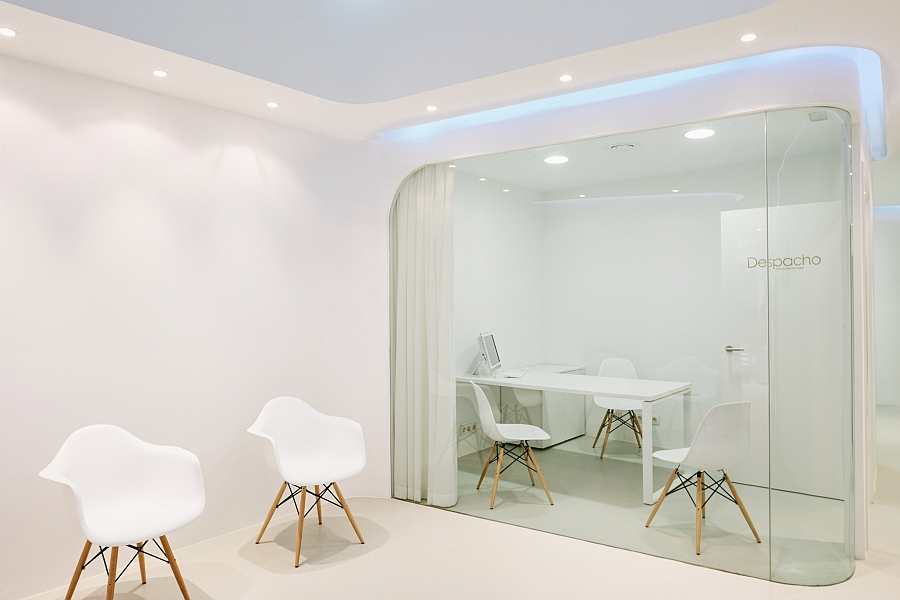 Innovative office space design with smart partitions