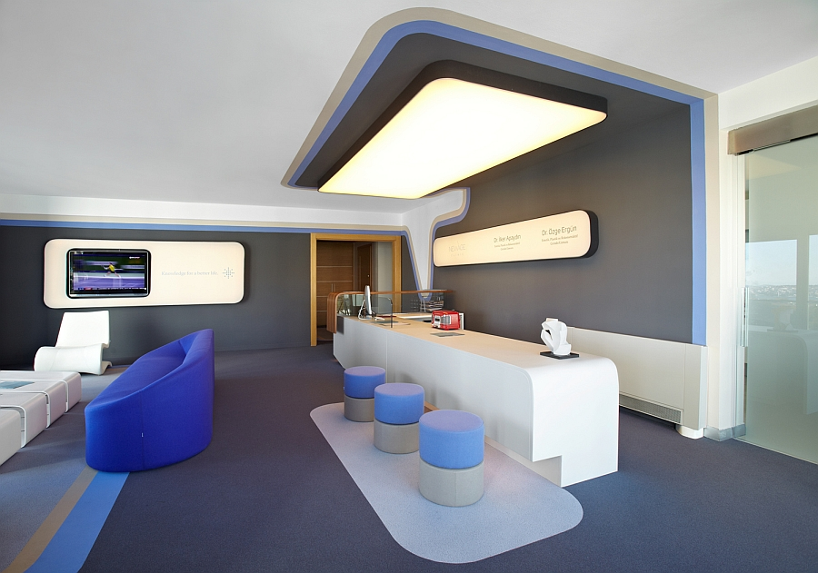 Interior of thye New Age Clinic in Istanbul insipred by a heartbeat