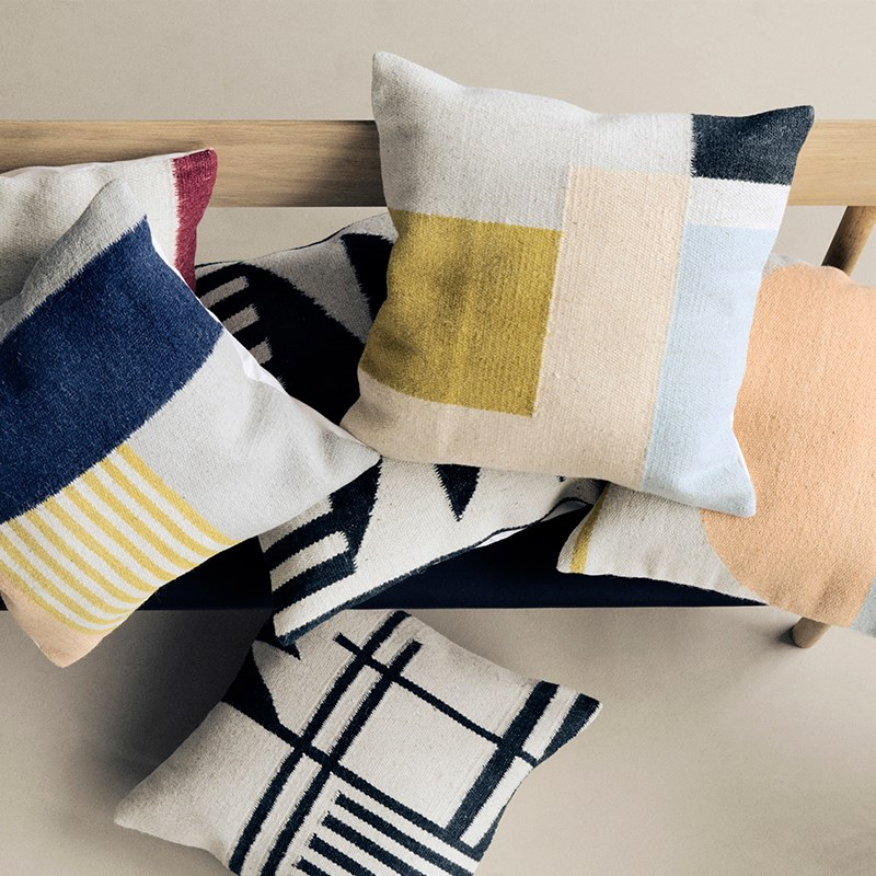 Kelim cushions from Ferm Living
