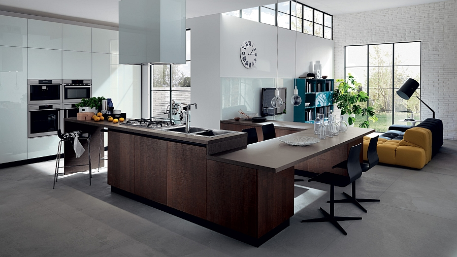 Modern Kitchen Living Room 20 contemporary compositions that unite the living room and kitchen