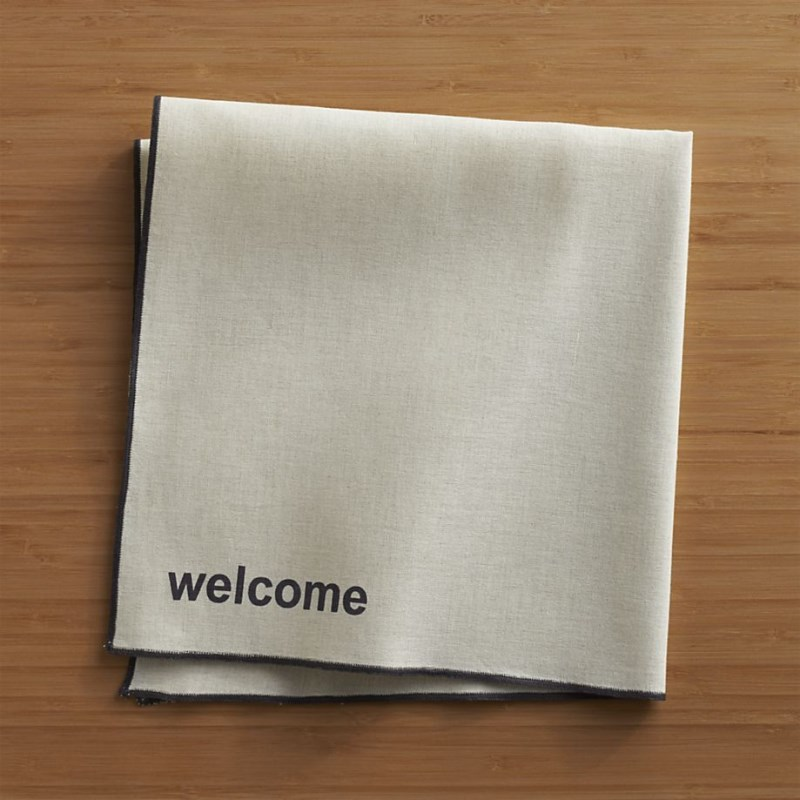 Linen and cotton napkins from Crate & Barrel