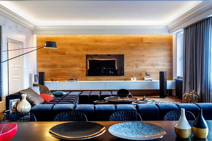Luxurious living room of the trendy Slovakian home