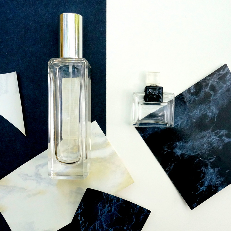 Marble contact paper can embellish perfume bottles