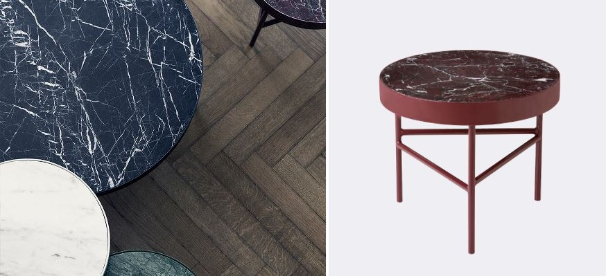 Marble tables from Ferm Living New Fall Decor Finds Highlight The Latest Trends