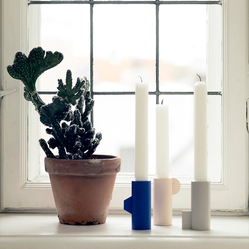 Metal candleholders from Ferm Living