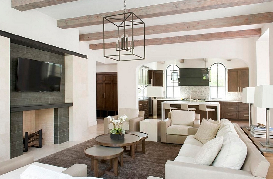 Nesting coffee tables offer versatility and adaptable style [Design: Tatum Brown Custom Homes]