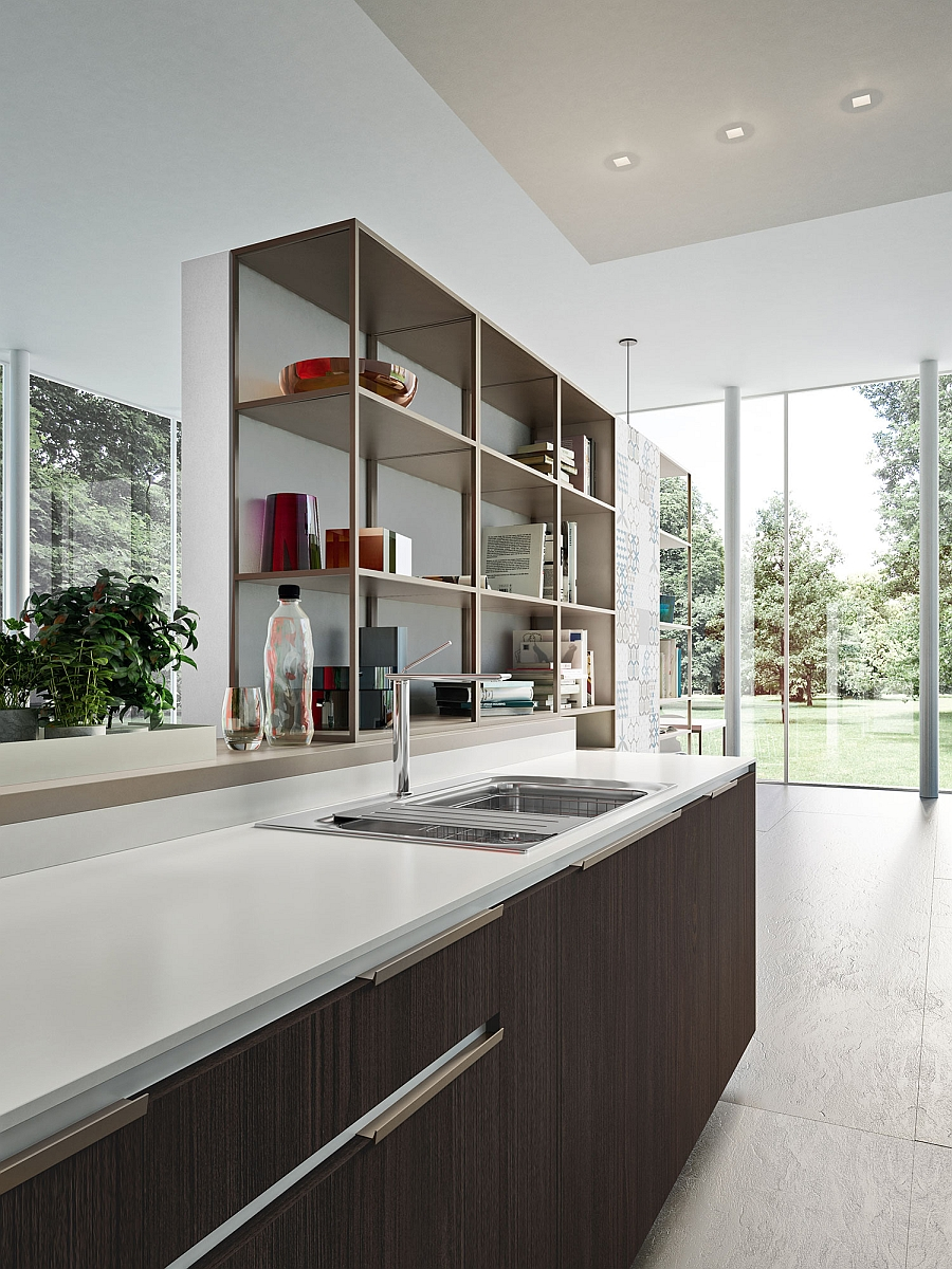 Open cabinets and storage solutions for the modern kitchen