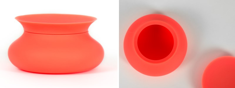 Orange silicone vessel from Finell