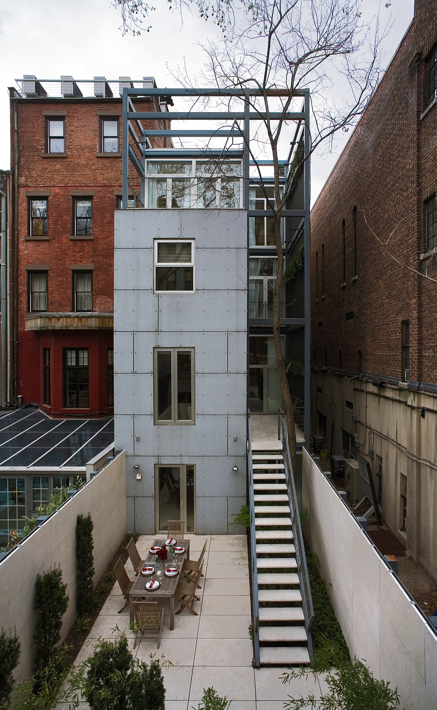 New York City Townhouse Modern Renovation on Urban Townhouse Floor Plans
