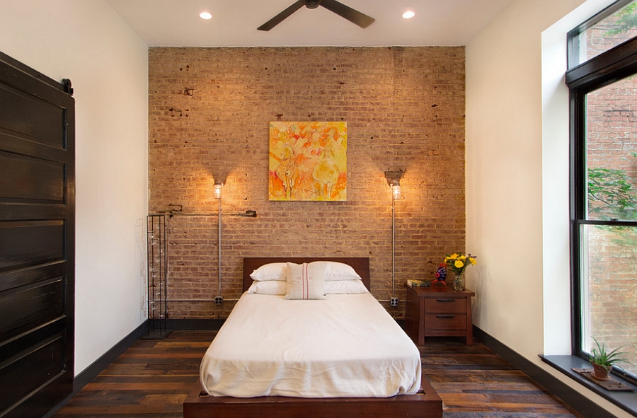 Platform bed gives the small bedroom a spacious look [Design: Bennett Frank McCarthy Architects]