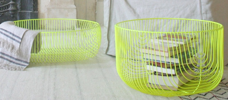 Powder coated iron baskets from Bend