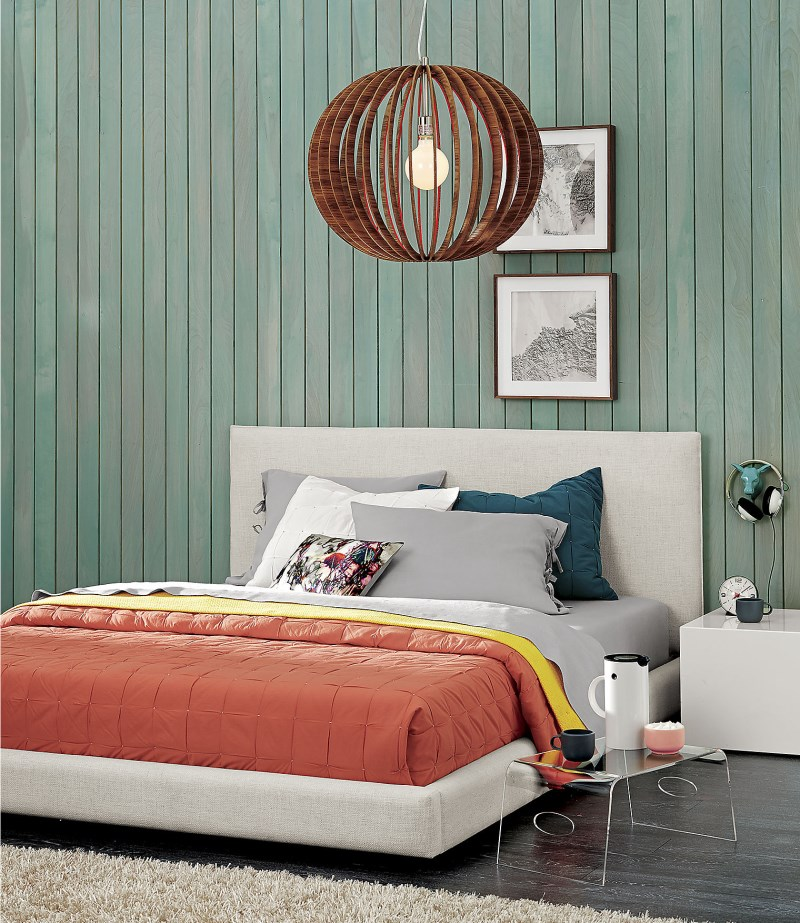 Red-orange bed linens from CB2