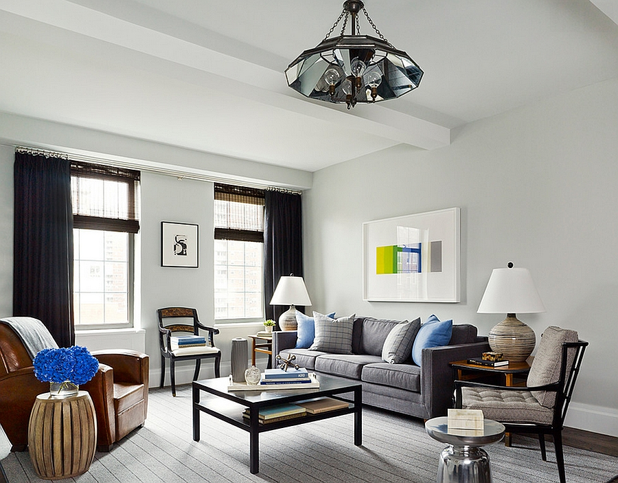 Refreshing and airy living room with an uncluttered, masculine vibe [Design: Joshua Smith]