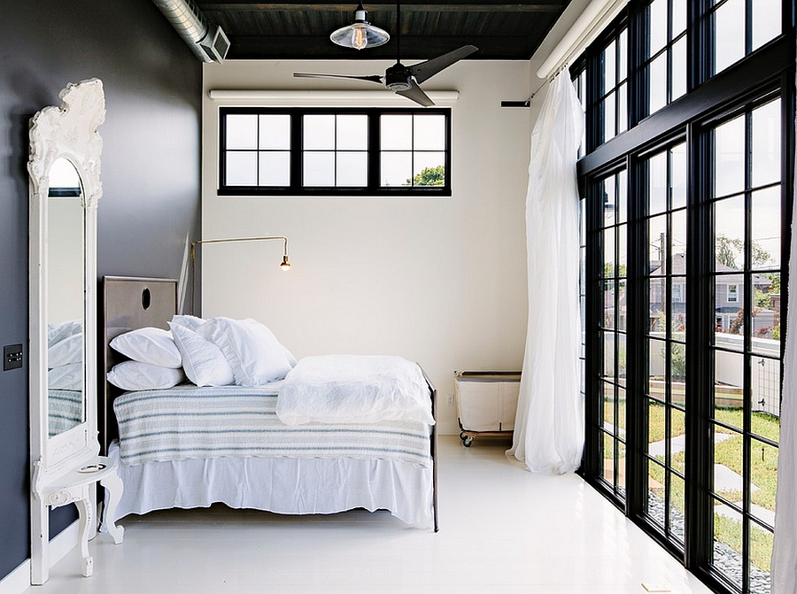 Relaxing industrial bedroom with contemporary appeal [Design: Emerick Architects]