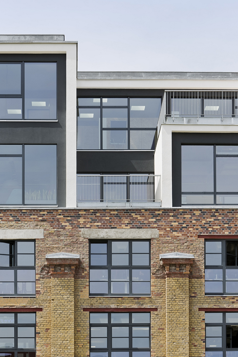 Renewed and revitalized facade of Factory Berlin