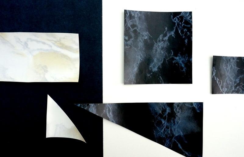 Scraps of marble contact paper1 Three Unique Uses For Marble Contact Paper