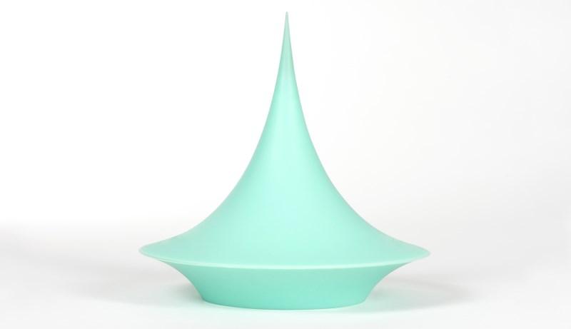 Sculptural silicone vessel