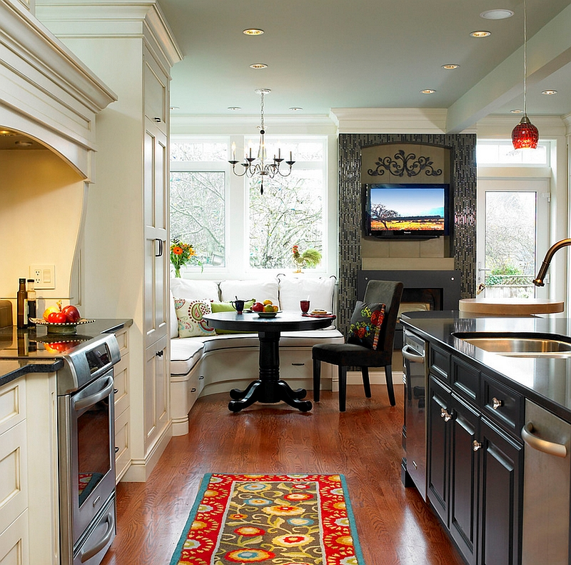 View In Gallery Shape A Small Dining Space In The Kitchen Corner [Design:  The Sky Is The