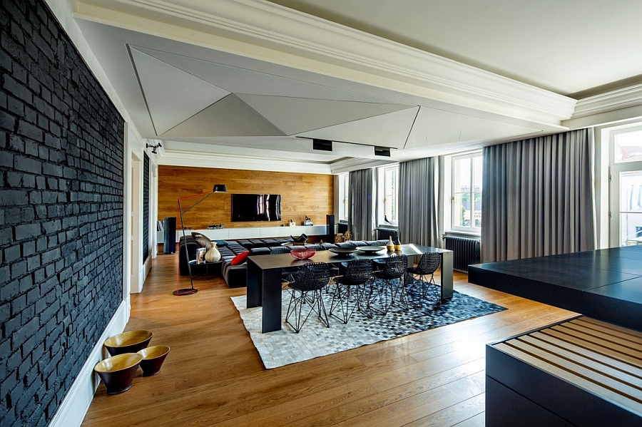 Sleek and stylish dining area with minimal style