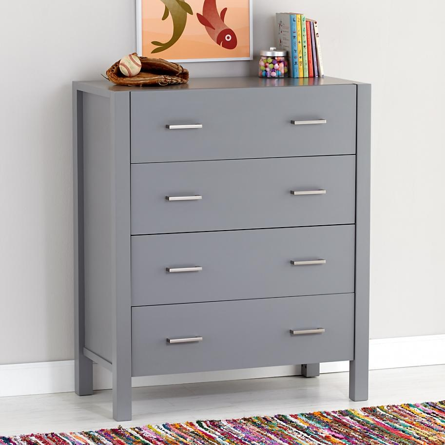 Sleek grey dresser