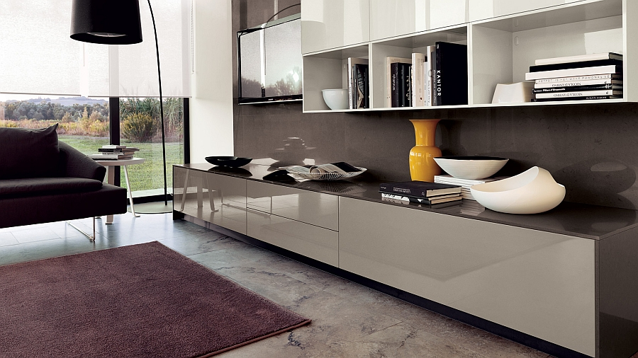 20 contemporary compositions that unite the living room and kitchen. Black Bedroom Furniture Sets. Home Design Ideas