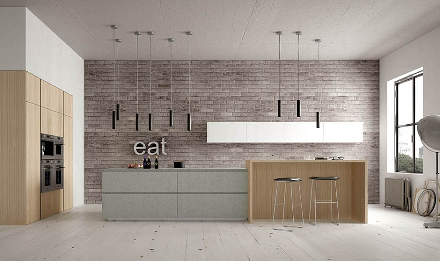 Contemporary italian kitchens designs creative timeless ideas for Modern kitchen lighting design
