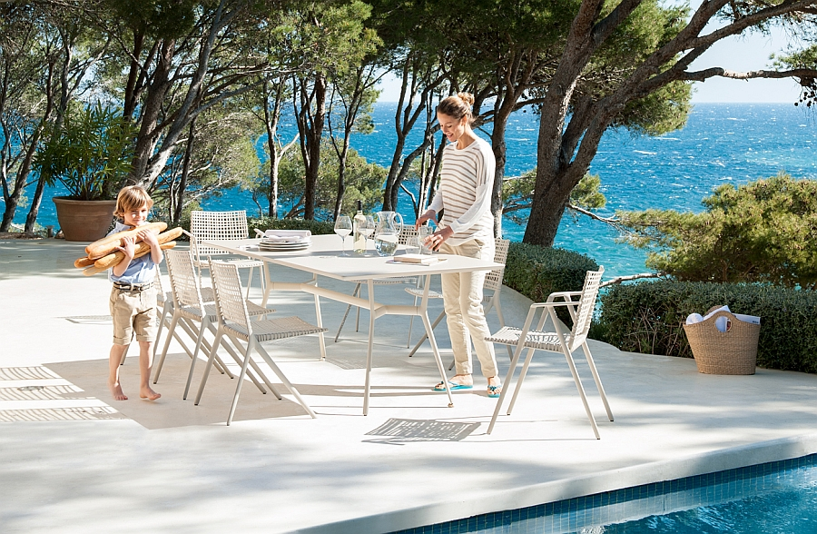 Slim and contemporary outdoor decor collection exudes luxury