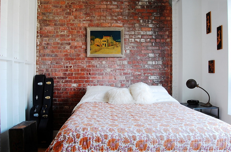 Small bedroom design idea with trendy industrial style [Photography: Corynne Pless ]