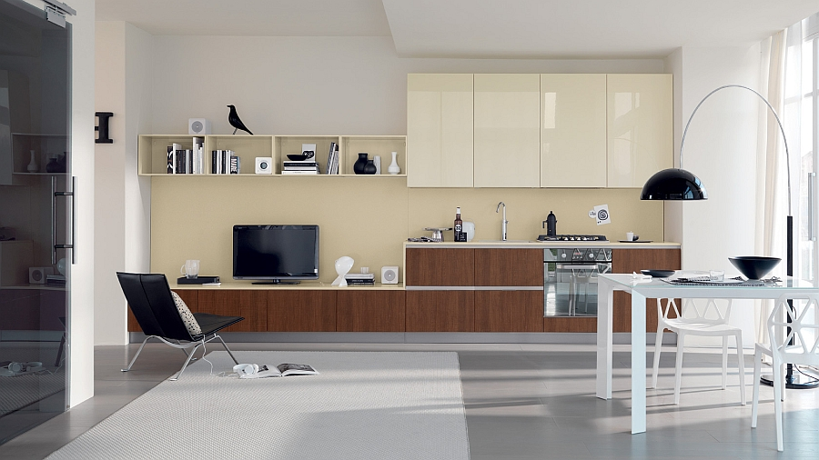Smart kitchen combines living room elements with kitchen design