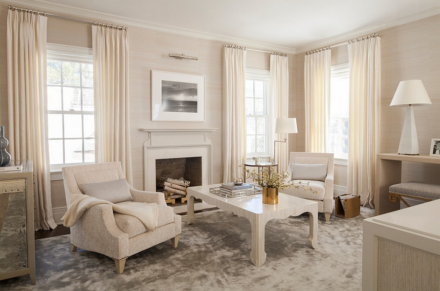 Soothing And Elegant Living Room With A Dash Of Gold Design S B Long