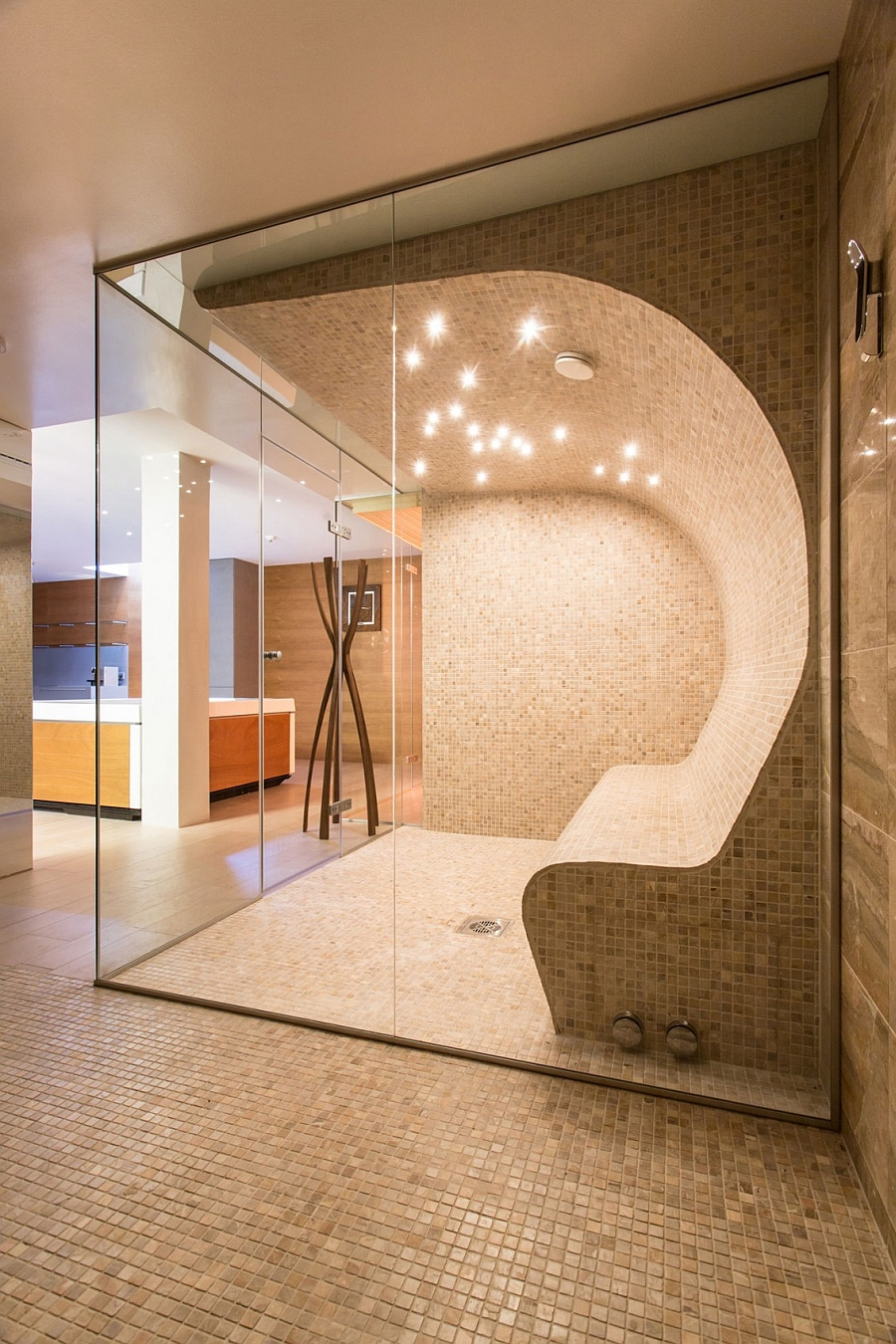 Artistic elegance meets architectural beauty at exclusive for Build steam shower