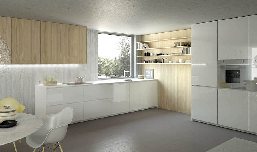 Space-conscious kitchen design with ample natural ventilation