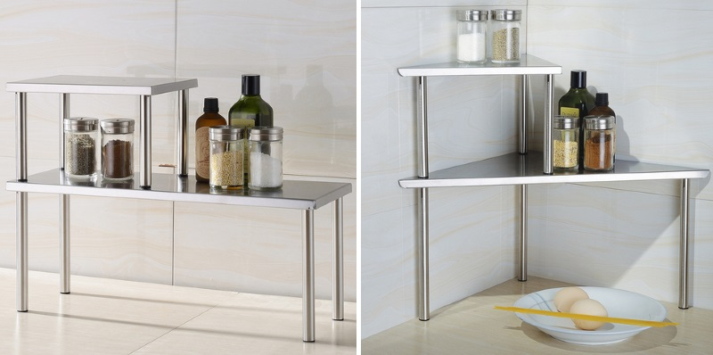 Stainless steel counterop shelving from Cook N Home