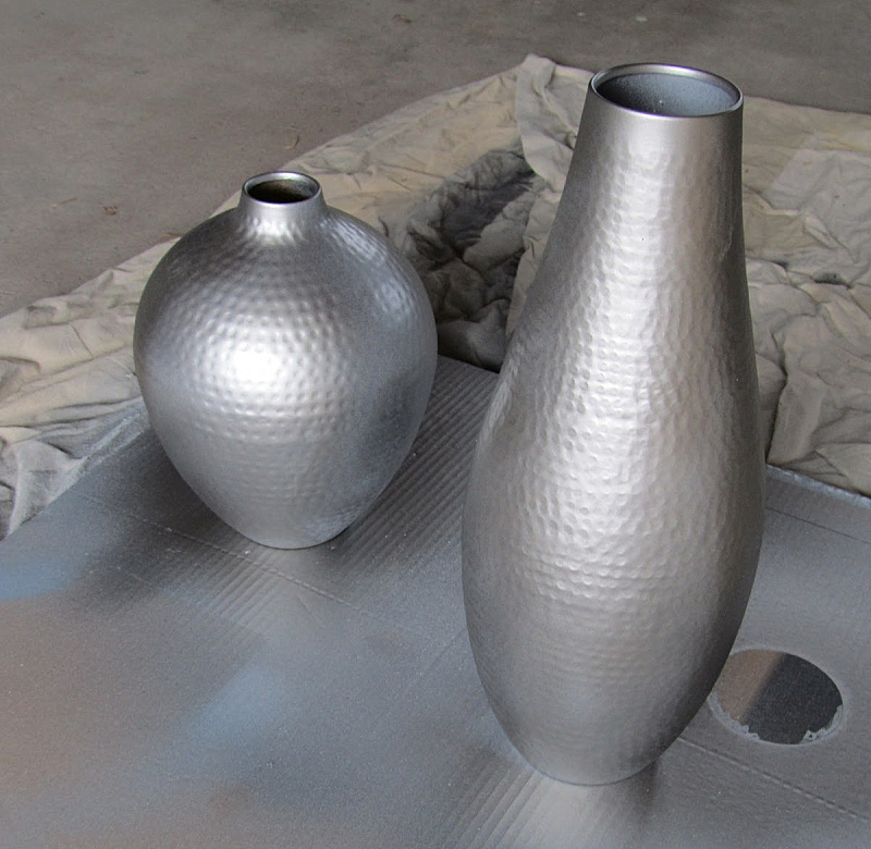Stainless steel spray paint project