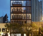 Steel and glass facade gives the building the timeless Chicago charm