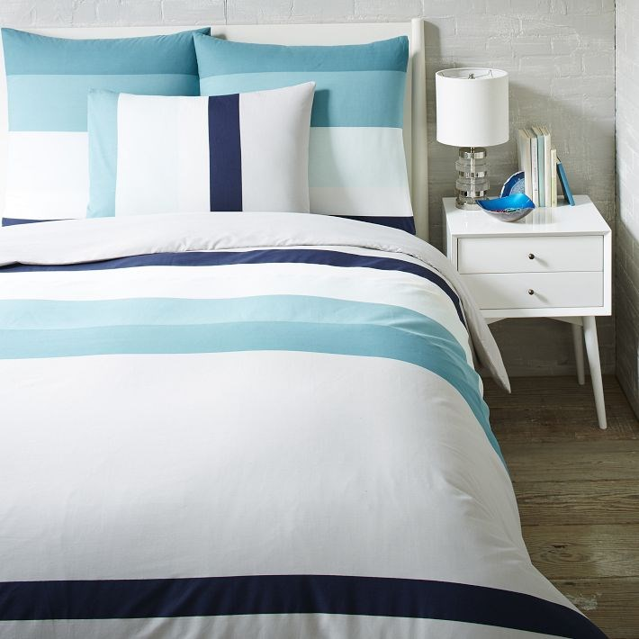 Striped bedding from West Elm