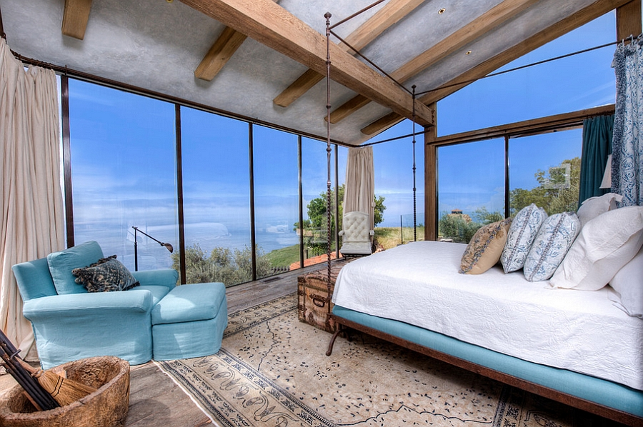 Stunning Mediterranean style bedroom with a breathtaking view 9 Ways To Add Mediterranean Magic To Your Modern Bedroom