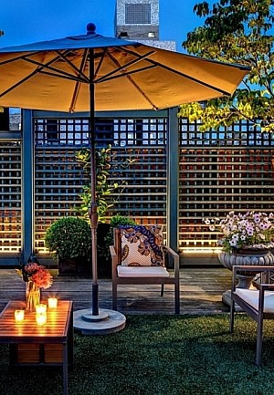 Stunning rooftop garden of Manhattan Apartment