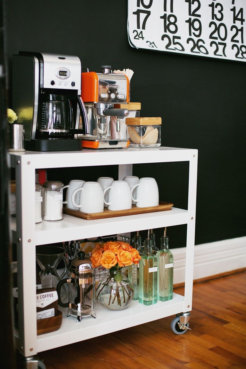 Styled coffee cart from A Beautiful Mess