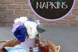 DIY 'Paint-Dipped' Napkins Bring Color To The Table!