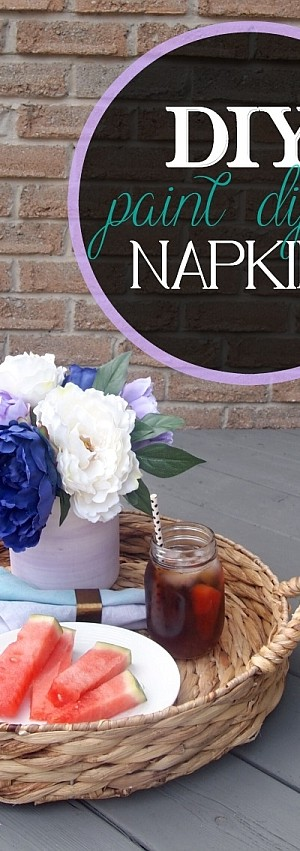 Stylish DIY Paint Dipped Napkins