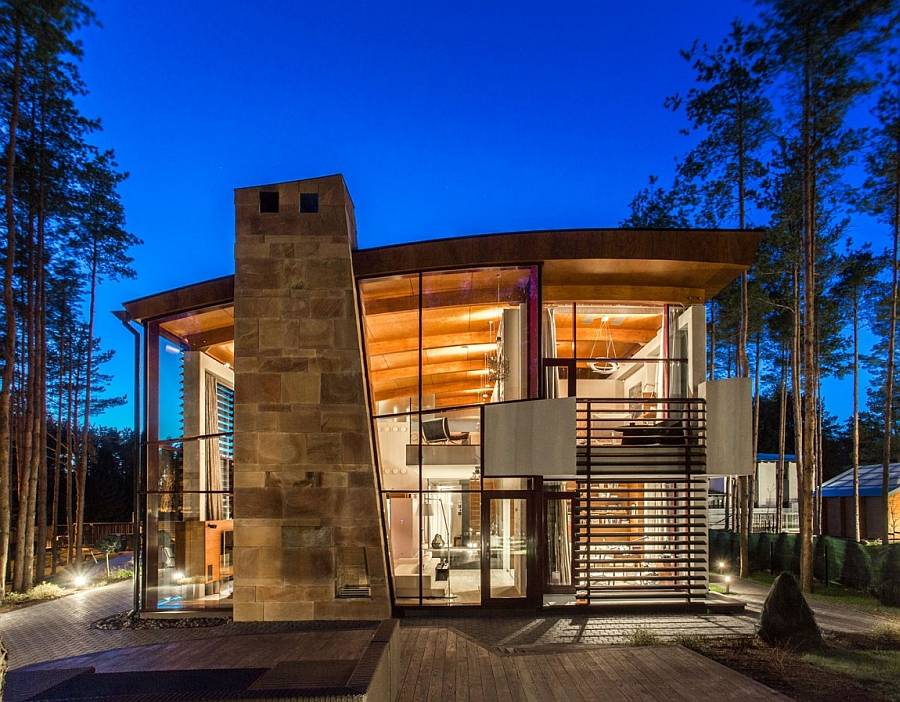 Stylish Tallinn Villa in stone and glass Artistic Elegance Meets Architectural Beauty At Exclusive Villa Estebania