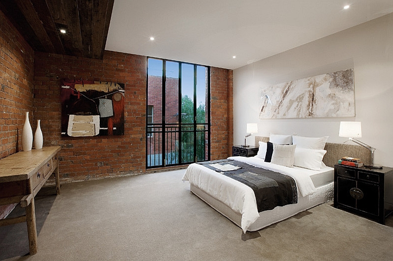 Stylish and elegant industrial style bedroom [Design: K+Architects]