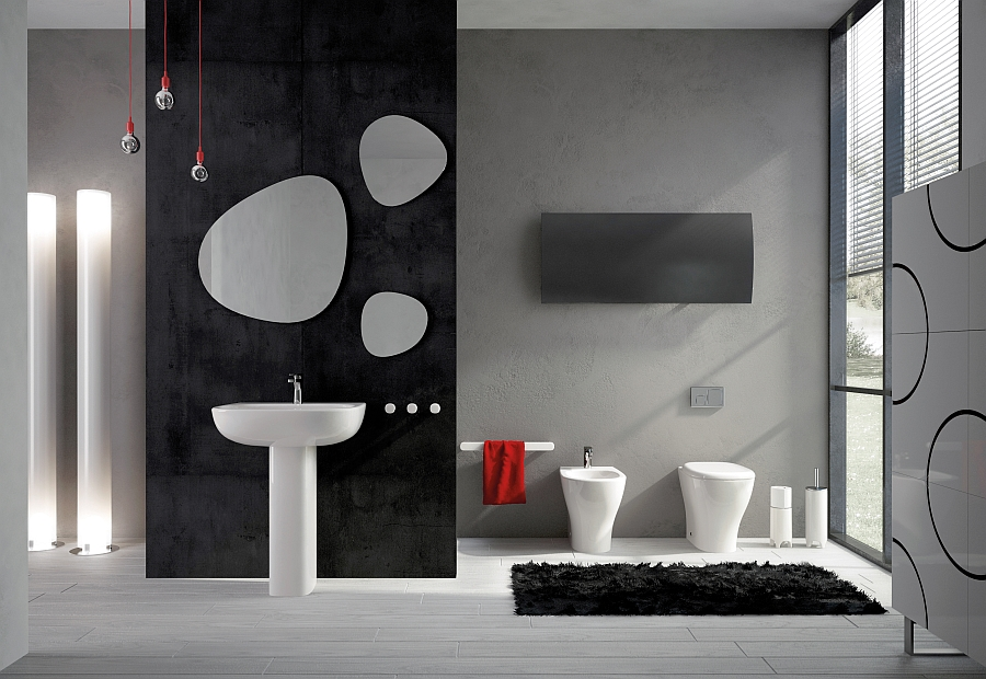 View In Gallery Stylish Modern Bath With An Art Deco Twist