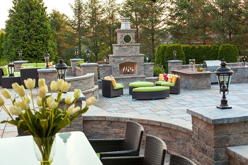 Stylish outdoor living area renovation at the home of The Real Housewives of New Jersey star Kim Granatell