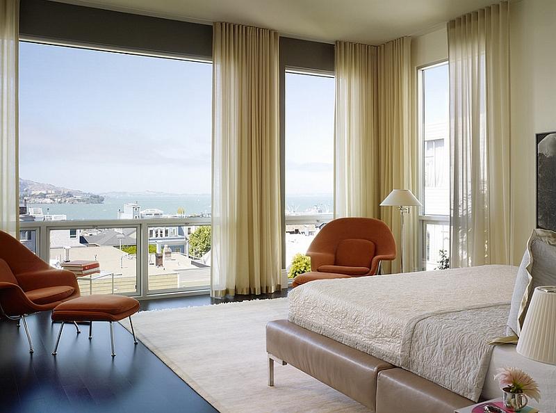 Stylish sheer curtains for the modern bedroom [Design: Chloe Warner]
